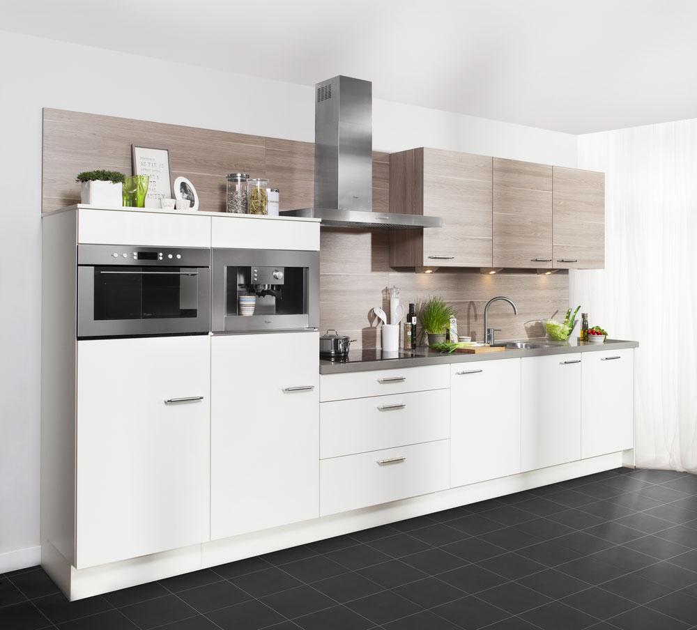 Husum weissig - Foto grijze keuken en hout ...