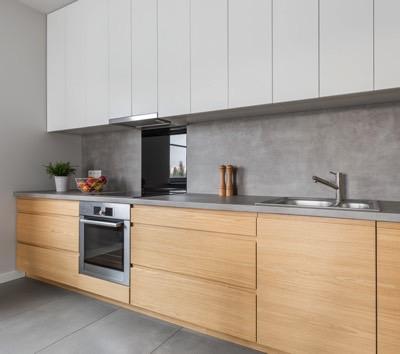 Rechte keuken beton