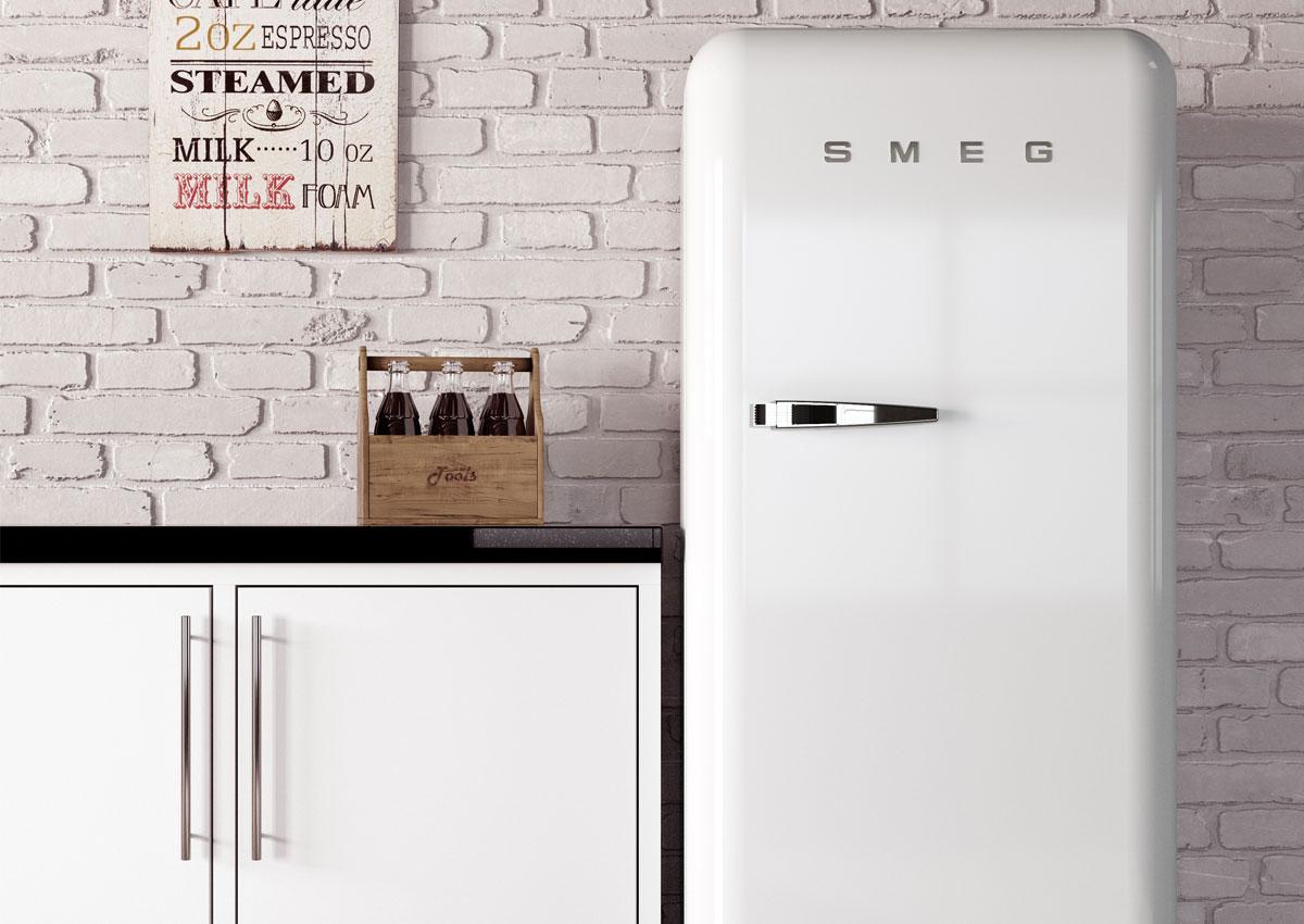 SMEG koelkast wit interieur