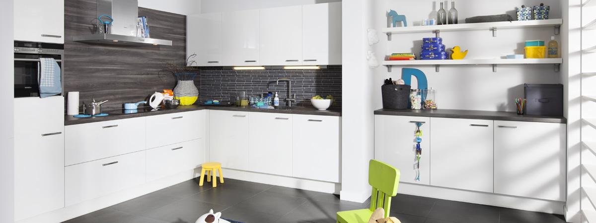 Kirkel hoogglans wit for Foto witte keuken
