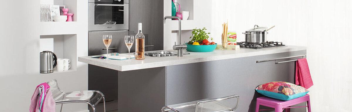 keuken gekleurde details