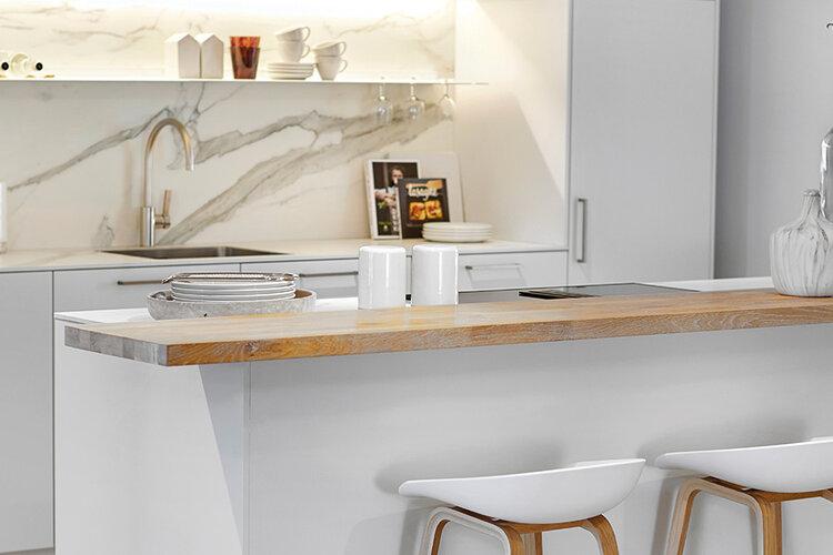 Witte matlak keuken