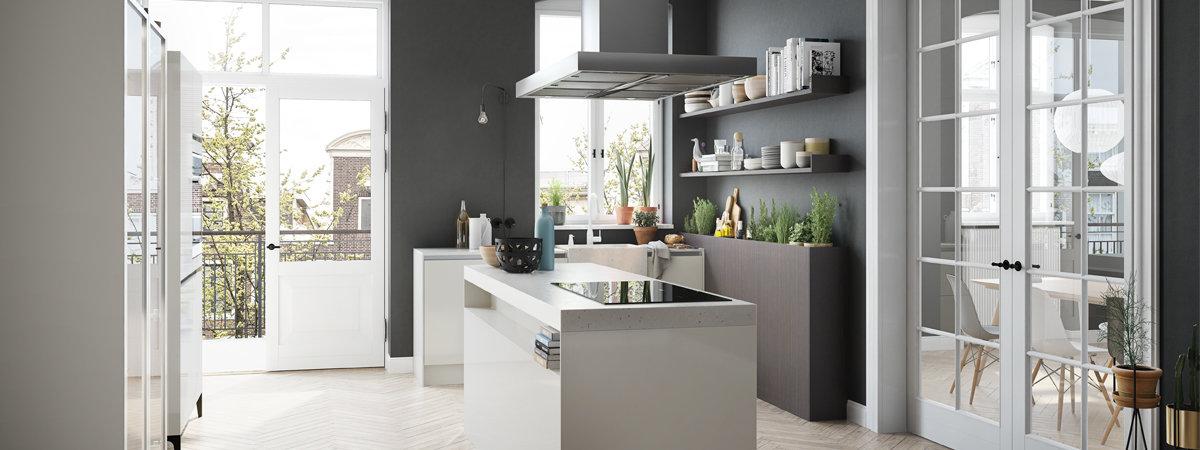Witte tijdloze keuken