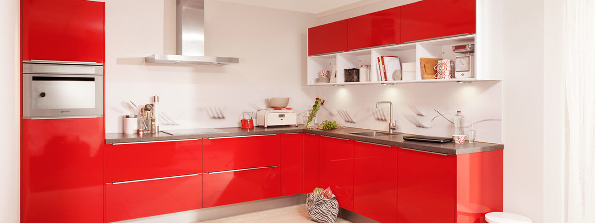Rode hoogglans keuken